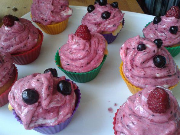 Waldbeeren Cupcakes 1