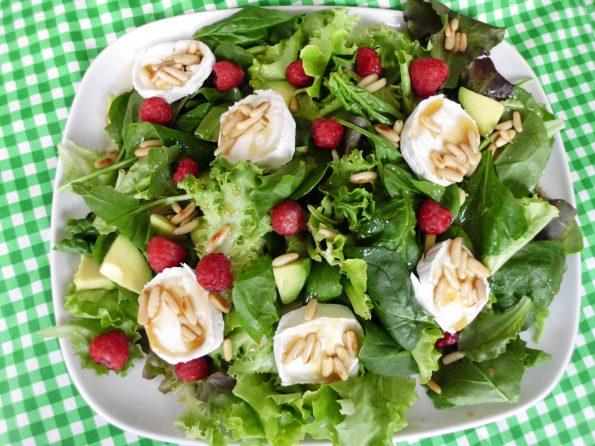 Salat Himbeeren Ziegenkäse