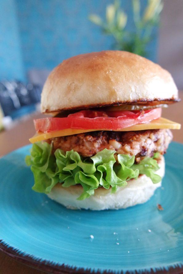 Cashew-Bohnen-Burger